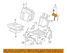 Hummer GM OEM 03-07 H2 Third Row Seat-Cover 88940362