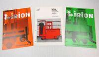3 Prospekte Irion Gabelstapler EFY50 ESY18 UGS2-1 Ausgaben 1969 + 1979