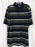FOX RIDERS RACING Mens polo shirt stripe size XL