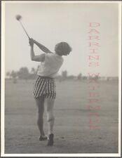 Vintage Photo Golfing Pretty Girl w/ Golf Club in Swinging Motion 704322