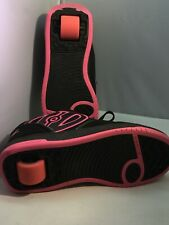 Girls Black And Pink Heelys Size 3.5 Youth Shoes With Wheels Girls Shoes