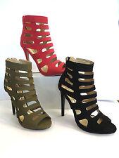 Peep Toes Stiletto Clubwear Standard (D) Heels for Women