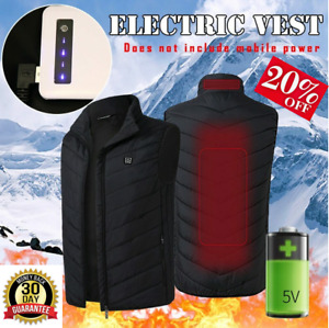 2020 Men Outdoor USB Infrared Heating Vest Jacket Men Winter Electric Thermal