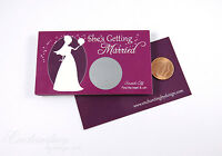 Bridal Shower Engagement Wedding Party Favor Scratch Off Game Card