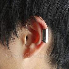 Novelty Modish Gothic Silver&Gold Long Smooth Cuff Wrap Ear Clip Earring ATAU