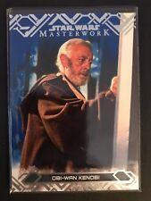 2017 Topps Star Wars Masterwork #43 Obi-Wan Kenobi BLUE