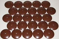 LEGO LOT OF 25 REDDISH BROWN 8 X 8 INVERTED DISHES RADAR PIECES