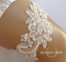 Simply Elegant, Ivory Lace & Pearls, Bridal Garter, Wedding Bride