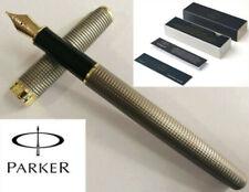 Parker Sonnet Cisele Black Grid Golden Clip 0.5mm Fountain Pen Fine New In Box