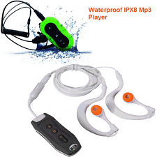4GB Clip Waterproof IPX8 Mp3 Player FM Sports Swimming Diving Earphone Black Hot