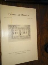 Books At Brown Vol XVIII No 4 October 1960 Paperback
