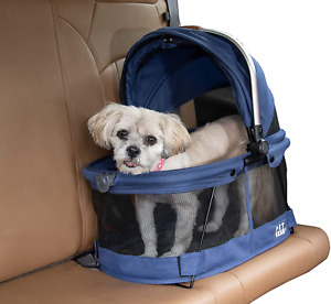 Pet Gear View 360 Pet Carrier & Car Seat for Small Dogs & Cats with Mesh Ventila