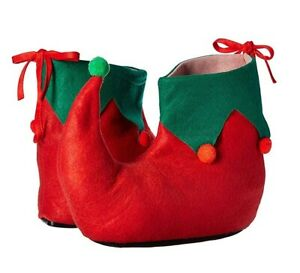 Red and Green Elf Shoes Santas Helper Christmas Teen to Adult Size Unisex