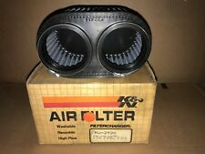 K&N RU-2920 Universal Dual Flange Oval Rubber Air Filter - D