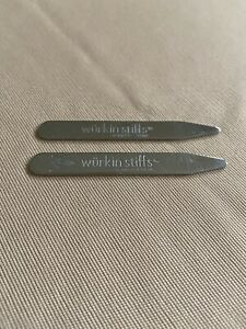 Wurkin Stiffs Metal Collar Stays Set of 2