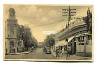 Tel-Aviv - Bialik Street, cafe, cars - old postcard