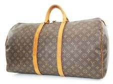 Authentic LOUIS VUITTON Keepall 55 Monogram Canvas Duffel Bag #37405