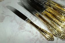 WALLACE ANTIQUE BAROQUE GOLD DINNER KNIFE (s)  NEW
