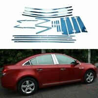 Full Windows Molding Trim Decoration Strips w/ Center Pillar For Chevrolet Cruze