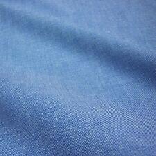Blue Denim Look 100% Cotton Chambray Fabric (Per Metre)