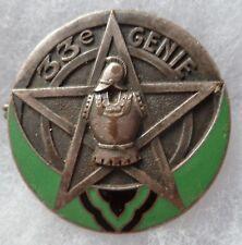 insigne WWII 33° Bataillon du Génie Troupes du Levant ORIGINAL AB déposé LIBAN