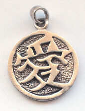 Chinese Writing (what dose it say?) 925 Sterling Silver Pendant Necklace Charm