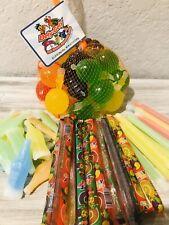 VIRAL Tiktok TIK TOK Candy- Jelly Fruit , Sticks, Wax Bottles, Sticks 20 count