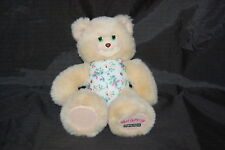 """Fisher Price Mollyberry Teddy Bear Tan Purple Pink Berries Plush 9"""" Toy 1999"""