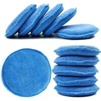 10Pcs Microfiber Foam Sponge Polish Wax Applicator Pads Car Cleaning UK