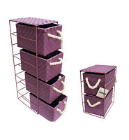 PURPLE  2 or 4 Drawer Polypropylene Tower Storage Unit - Home Storage/Office