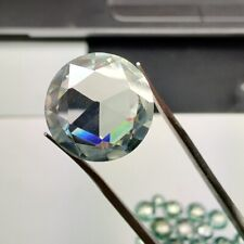 Rose Cut Loose Moissanite For Ring / Pendant 1.27 Ct 6.83 Mm Vvs1 Ice Blue Round