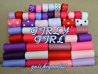 74 yards Girly Girl Valentines Wholesale Mixed Grosgrain Ribbon Supplies Lot USA