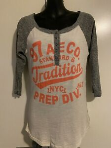 AMERICAN EAGLE OUTFITTERS Raglan, Vintage, College style 3/4 Sleeve Top Size M