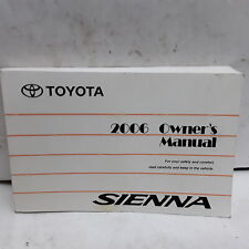 2006 Toyota Sienna Owners Manual