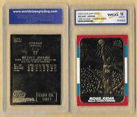 MICHAEL JORDAN 1986 Fleer ROOKIE 23KT Gold Card R/W/B Border GEM MINT 10
