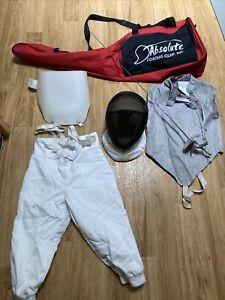 "41"" Absolute Fencing Foil with Bag & Gear Pants  Vest Helmet Glove"