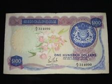 Singapore Orchid $100 note
