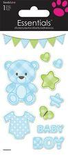 Scrapbooking Crafts Stickers Sandylion Baby Boy Blue Bear Banner Stars Hearts