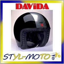 80220 CASCO DAVIDA 80-JET TWO TONE BLACK / SILVER TAGLIA M