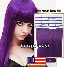 16 18 20Inch Tape in Human Hair Extensions 100% Remy Hair Seamless Weft Straight