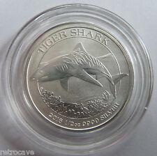 2016 Australia/Perth Mint Tiger Shark 1/2 OZ. 9999 plata moneda del lingote