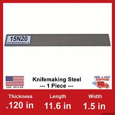 15N20 Carbon Steel Bar - 1/8 in x 11.6