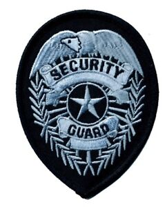 Security Guard Patch Silver or Gold on Black Background (#3711-3716)