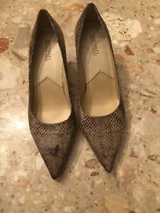 Michael Kors Women's pointed toe genuine Snakeskin High Heels Shoes Us Sz 9.5 M