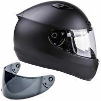 SNELL M2015 Adult Motorcycle Helmet (Large) Matte Black - DOT Certified