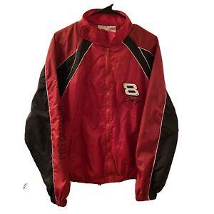 Winners Circle Dale Earnhardt Jr #8 Full Zip Windbreaker Jacket L Red - Nascar