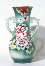 Victorian Style Floral Vase with Moriage Decorations