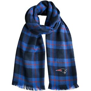 """New England Patriots NFL Plaid Blanket Fashion Scarf 75"""" x 30"""" New with Tags"""