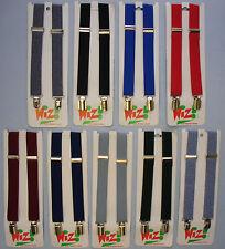 Childrens Kids Plain Braces Suspenders Adjustable Fancy Dress School Uniform One