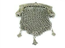 New listing Antique Art Nouveau Sterling Silver Link Purse 106.1g